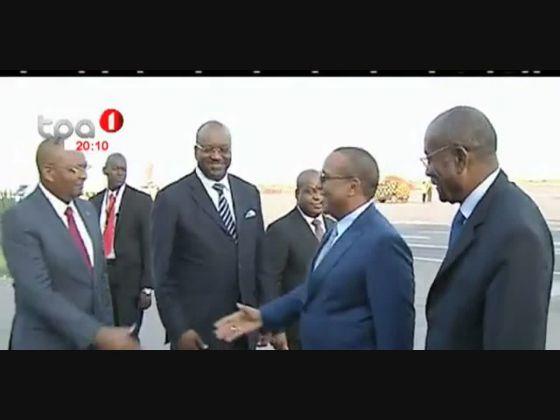 Primeiro - Ministro de São tomé e Principe está em Angola