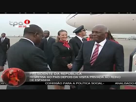 PR: Regressa ao país depois da visita privada ao Reino de Espanha