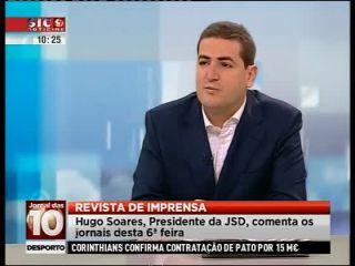 Revista de Imprensa SIC Notícias Hugo Soares