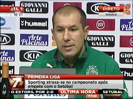 Treinador afirma que Sporting tem o recorde do mundo de golos mal anulados - SIC Notícias