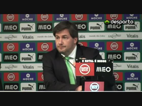 Bruno de Carvalho indignado com a arbitragem do Sporting-Nacional - SAPO Desporto