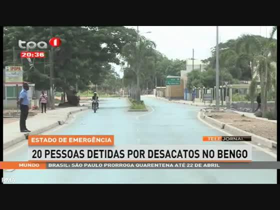 Estado de emergência - 20 Pessoas detidas por desacatos no Bengo