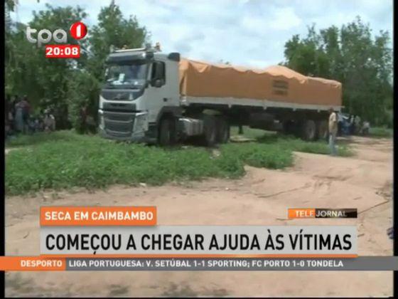 Seca em Caimbambo - começou a chegar ajuda as vítimas