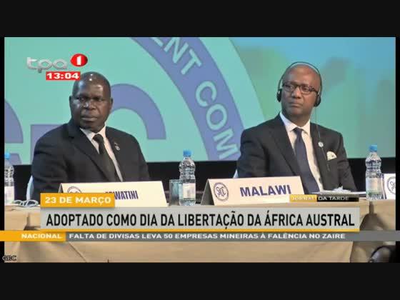 23 de Março adoptado como dia da libertação da África Austral