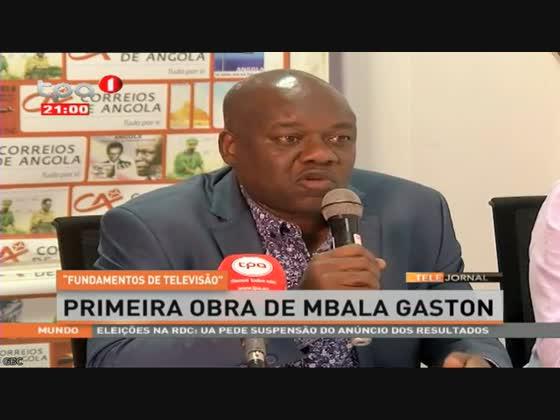 """""""Fundamentos de Televisão"""" primeira obra de Mbala Gaston"""